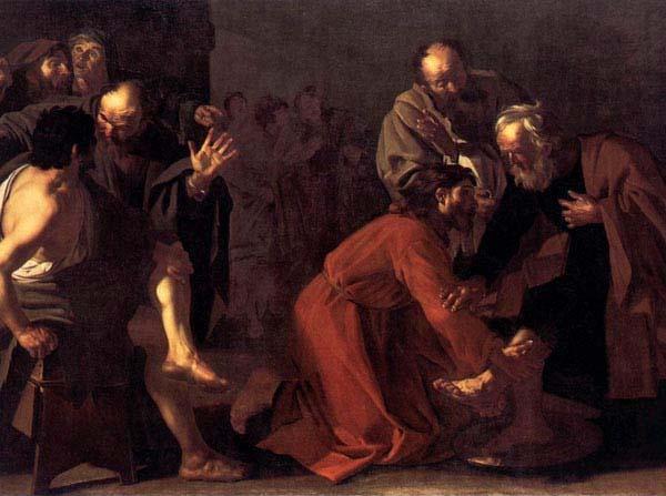 marzo 29, Jesús lava los pies de sus discípulos
